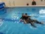 Jaunųjų gelbėtojų užsiėmimai baseine